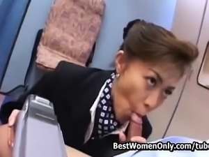 Japanese Cougar Air Hostess Blowjob Service To Clients