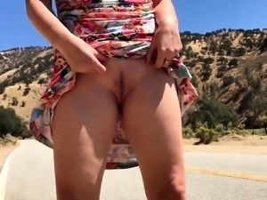 Sexy Girl Flashing in West America