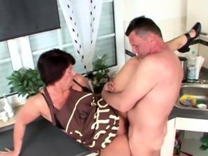 GERMAN WIFE Seduce Stranger Craftsman to Fuck if Husband off