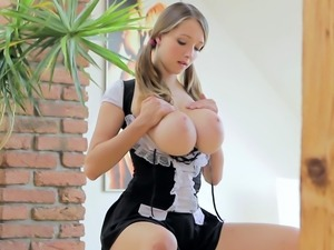 18yornschoolgirl Busty Buffy in fetish ball jumping scene