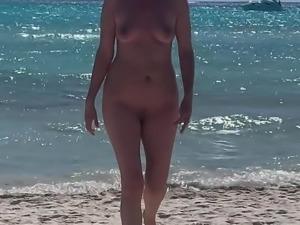Wife naked on the beach again.