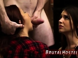Slave kiss ass and gangbang in warehouse bondage Excited you