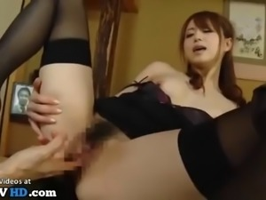 Japanese wife fucked hard by the friend of her husband