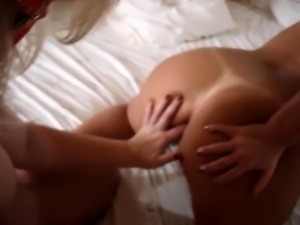 Masked brunette wife enjoys an exciting bisexual threesome