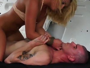 Mistress slave and bondage handjob hd But not before he