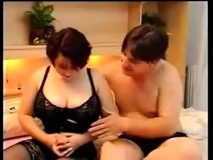 Kinky fat BBW wife rides fat husband on home made video