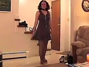 Milf does striptease and great blowjob but