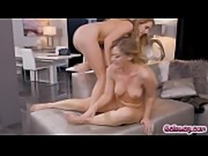 Addison on the phone taking to a client when she was about to get to the climax