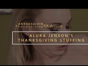 Big breasted cougar Alura Jenson is making Thanksgiving