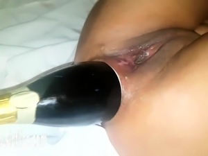 Champagne Bottle Anal Fucked amateur