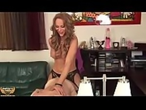 Sexy shemale foxy angel shows who is the boss