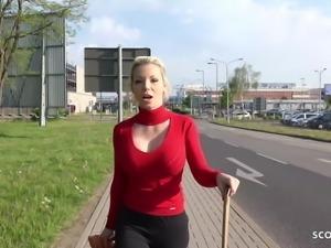 GERMAN SCOUT - Big Boobs MILF Talk To Fuck At Street Casting