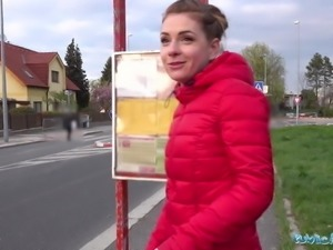 Public Agent Fuck and facial for hot cute cheating minx Mila