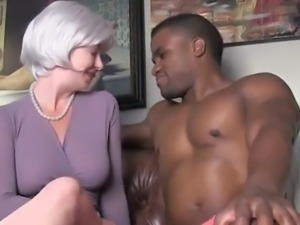 Sexy and busty mature milf seduces and fucks her first bbc