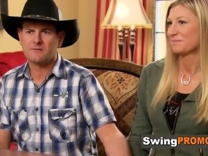 Swinger cowboy wants his wife to fuck