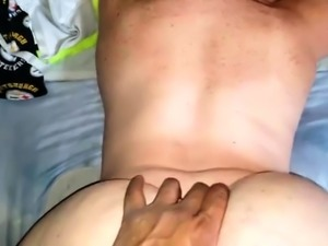 Big booty mature brunette welcomes a black cock in her pussy