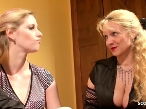 Mother Watch Young Couple While Fuck and Masturbate German