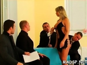 Hard body studes and chicks have a enjoyment a sex party