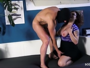 Cuckold Watch While Stranger Fuck his Redhead German Wife