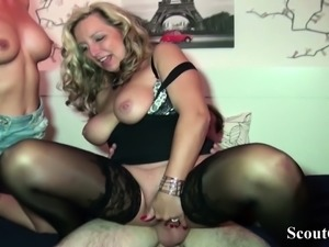 German Mother Jenny Caught Step-Sister Fuck and Join