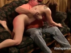 Teen is spanked,sodomized, paddled and caned to tears