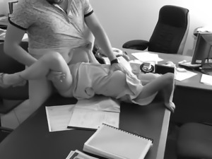 Boss set up hidden cam and fucked his secretary in the offic