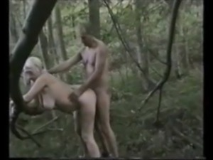 Dogging wife creampied in the wood by a stranger