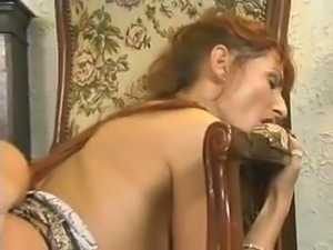 Redhead and Brunette XXX Ass to Mouth