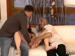 Old guy hotel first time Unexpected experience with an