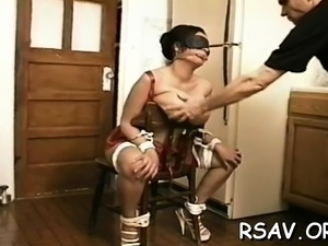 Delectable girlie is eagerly rubbing her snatch