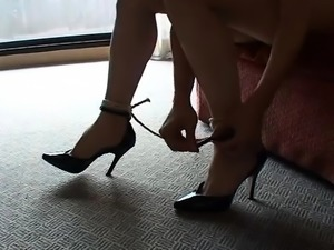 BDSM rough ass spanking lesson for nude and tied slut